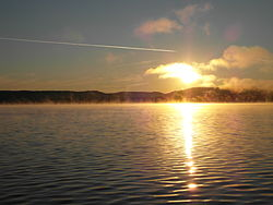 Sunrise in July at Sand Lake (Parry Sound District).jpg