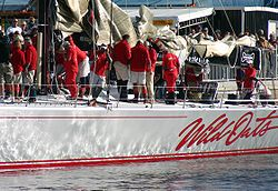 Sydney to Hobart line honours winner Wild Oats XI after the 2005 race