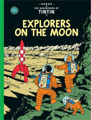 Explorers on the Moon - Cover of the English edition