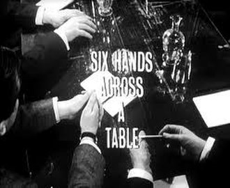 Six Hands Across a Table - Image: The Avengers Six Hands Across a Table