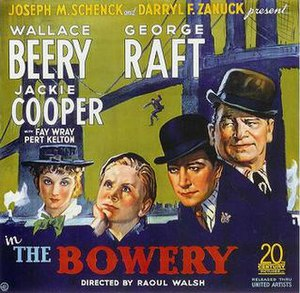 The Bowery (film) - Theatrical release poster