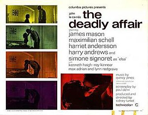 The Deadly Affair - Theatrical release poster