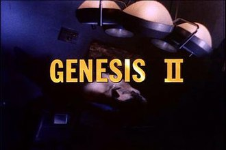 Genesis II (film) - Image: Title shot of telefilm