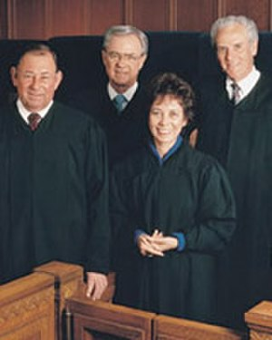 David Eagleson - From left to right: Justice Marcus Kaufman, Eagleson, Justice Joyce Kennard, and Chief Justice Malcolm Lucas