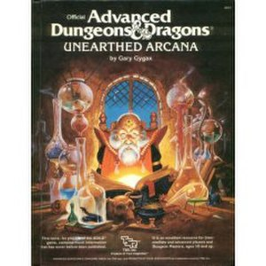 Unearthed Arcana - Cover of Unearthed Arcana for the 1st edition of Advanced Dungeons & Dragons; cover art by Jeff Easley
