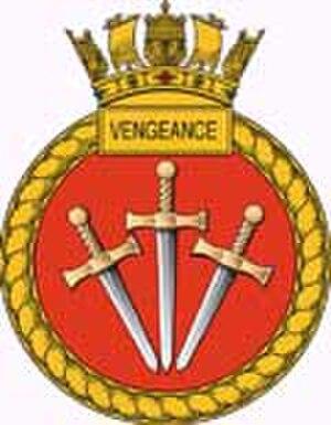 HMS Vengeance (S31) - Image: Vengeance crest