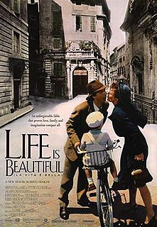 <i>Life Is Beautiful</i> 1997 Italian film directed by and starring Roberto Benigni