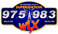 WLLX-WLXA Superstation97.5-98.3WLX logo.png