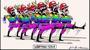 Bill Leak - Image: Waffen SSM cartoon by Bill Leak