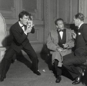 Walter Carone - Walter Carone (left) with Jean Cocteau and Joseph Cotten