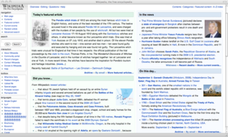 Site-specific browser - Screenshot showing Wikipedia website running in a site-specific browser window created by Fluid on Mac OS X