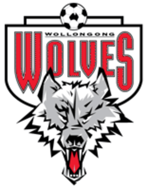 Wollongong Wolves FC - Wolves emblem in the 1990s