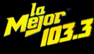 XHENA-FM - Image: XHENA La Mejor 103.3 logo