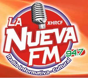 XHRCF-FM - Image: XHRCF La Nueva FM94.7 logo