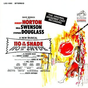 110 in the Shade - Original cast recording cover