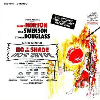 110 in the Shade - Original cast recording cover