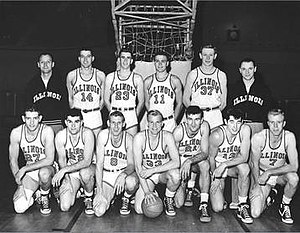 1949–50 Illinois Fighting Illini men's basketball team.jpg