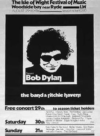 Behind That Locked Door - Festival poster, showing an image of Dylan circa 1966