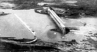 1979 Machchhu dam failure - Failed earthen embankment of Machchhu II dam