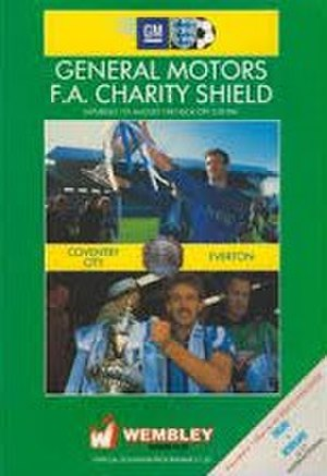 1987 FA Charity Shield - The match programme cover