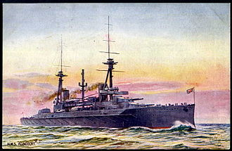 South American dreadnought race - Agincourt depicted prior to its British modifications, which included the removal of the flying bridge between the funnels seen here.