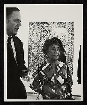 Alma Thomas - Thomas at opening in the Whitney Museum, 1972
