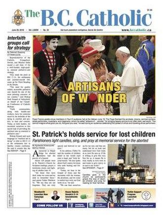 The B.C. Catholic - Image: B.C. Catholic Cover 2016