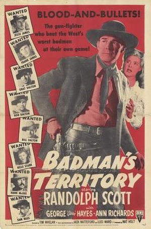 Badman's Territory - Theatrical release poster