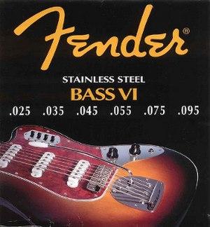 Fender Bass VI - Fender Bass VI string set.