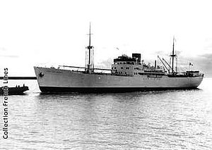 Battle of the Cigno Convoy - The liner Belluno (former Fort de France) in a pre-war photo