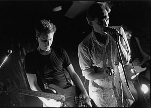 Breeding Ground (band) - Jonathan Strayer (bass, left) and John Shirreff (vocals, right)