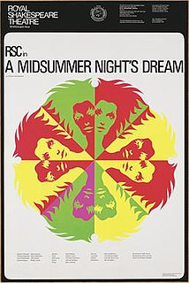 RSC production of <i>A Midsummer Nights Dream</i> (1970) Shakespeare play production