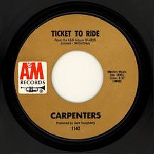 Ticket to Ride - Image: Carpenters Ticket 45rpm