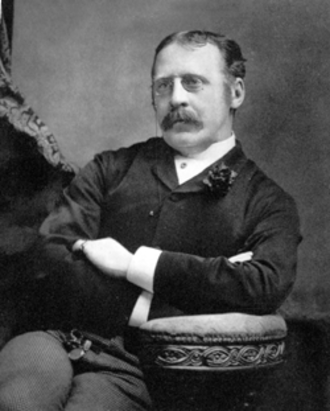 Clement Scott - Clement Scott, from a copy of the Theatre magazine, aged about 40