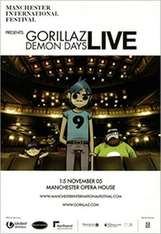 Demon Days Live - Promotional poster for Manchester dates