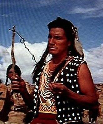Eddie Little Sky - Eddie Little Sky in the role of Crow chief in the 1965 western spoof Hallelujah Trail