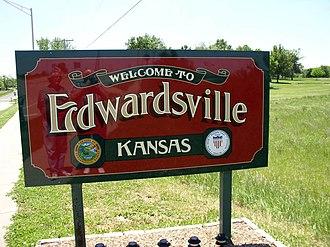 Edwardsville, Kansas - Entrance sign in Edwardsville