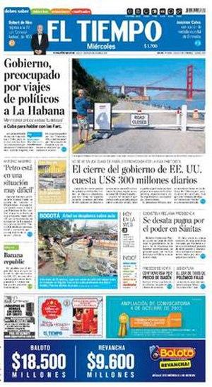 El Tiempo (Colombia) - Image: Eltiempo 1