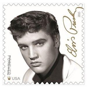 Elvis Presley Forever stamp - Image: Elvis Presley Forever stamp