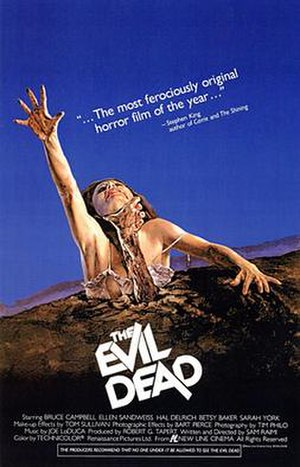 The Evil Dead - Original theatrical release poster
