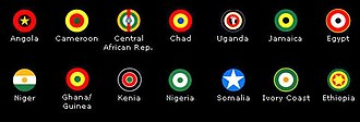 Fight for Your Mind - African Military roundels (plus Jamaica's) in the Fight For Your Mind artwork
