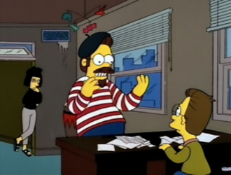Ned Flanders - A young Ned seen with his beatnik parents