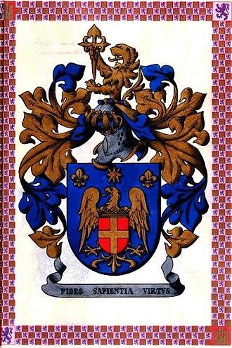 Spanish heraldry - Arms of Eduardo Madrid Brillantes registered by the Cronista of Castile and León, Don Alfonso Ceballos-Escalera y Gil-Marques of La Floresta