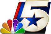 "KXAS-TV's stylized ""Star 5"" logo has been used in some form since 1971 when the station was still WBAP-TV (it was originally displayed upright until 1999, and accompanied by a background based on the Texas flag from 1992 to 2012). This image, from 1978, is accompanied by NBC's 1976 trapezoid ""N"" logo."