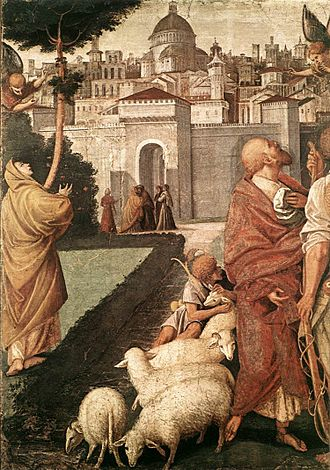 Gospel of James - Image: Gaud Ferrari Annunc Joach Anna