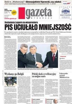 Gazeta Wyborcza - Image: Gazetawyborcza cover