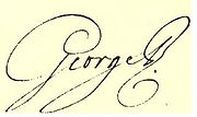 Signature of George III, c. 1790