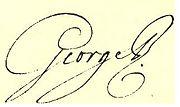 Signature of George III, c. 1790