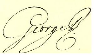 Royal sign-manual - The royal sign-manual of King George III
