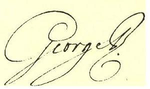 Royal sign-manual - The royal sign-manual of King George III
